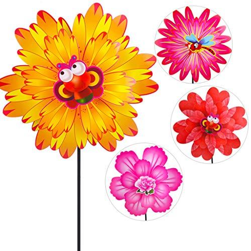 Lifet Wind Spinner Zwei Schichten Bunte Blume Windrad Windmühle Kinder Kinderspielzeug Garten Party Dekoration 1 STÜCK | Garten > Dekoration > Windräder | Lifet