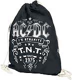 AC/DC T.N.T. Turnbeutel schwarz
