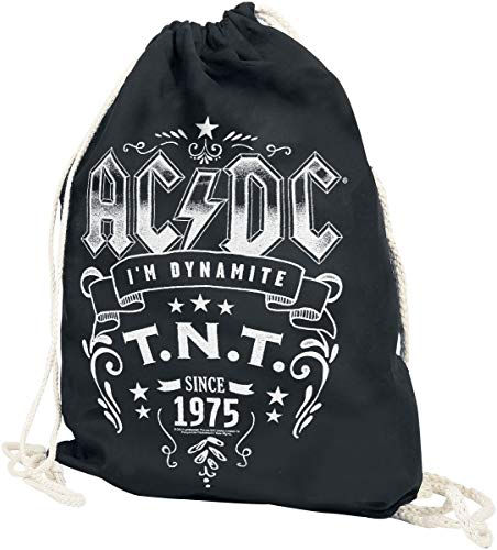 AC/DC T.N.T. Bolsa de deporte Negro