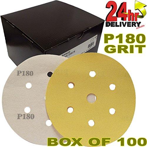 pro-range-gold-2362819918uk-mirka-plain-boxed-velcro-da-6-150mm-sanding-discs-p180-grit-pack-of-100-
