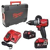 Milwaukee 4933464264 Taladro de Batera Combustible Rojo y Negro