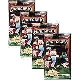 Minecraft Lot de 4paquets de cartes Minecraft à collectionner Total 12cartes stickers