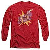 Trevco 2Bhip 1960 pop star pop caramelle razzo di brillamento di nuovo l-Maglietta maniche per Uomo Mezzi Rosso
