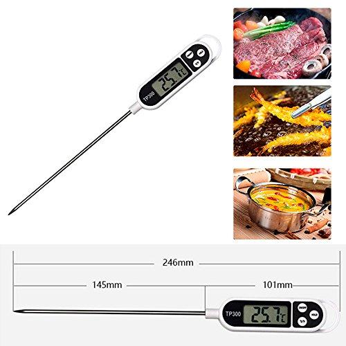 TeasyDay Digital Food Cooking Thermometer Instant Lesen Fleischthermometer für Küche BBQ, Hochleistungs-Mehrzweck-Digital-Thermometer, für Küche Labor Factory BBQ
