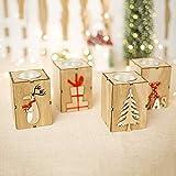 ☃caratteristica: ☃ Nuovissimo e di alta qualità. ☃Perfetto per Natale / Matrimonio / Home decor ☃ Materiale: Legno ☃Dimensioni: 7x9cm ☃Perfetto per la decorazione di Natale. ☃Quest...