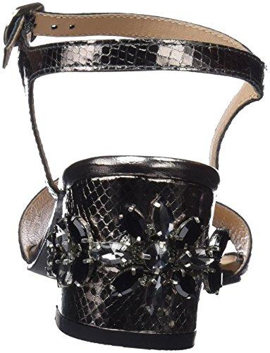 Gioseppo 44947, Scarpe Col Tacco Punta Aperta Donna Nero