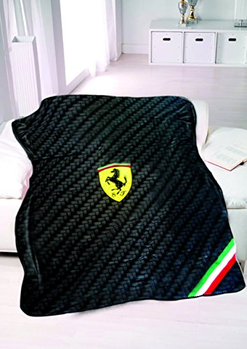 Ferrari Scudetto Fleece Decke carbon schwarz SF Team Formel 1 F1 Test