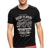 Shilton T-Shirt Rugby Players Noir - L
