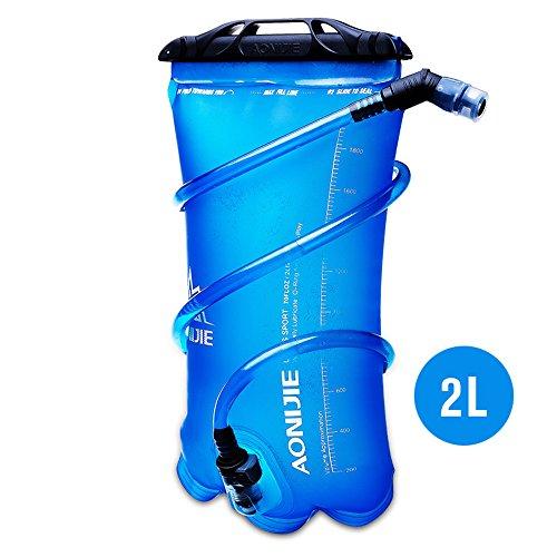 Imagen de bolsa de agua plegable, de tpu, para hidratación durante deportes al aire libre como correr, camping, senderismo, bicicleta, de 1,5 l, 2l, 3l, de aonijie, 2 l
