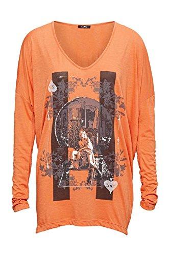 Costume National C'N'C Damen Shirt Langarmshirt PIK, Farbe: Orange, Größe: L (C'n'c Costume National)