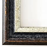 Bilderrahmen Trento Schwarz Silber 5,4 - Über 14000 Größen im Angebot zur Auswahl - 51 x 101 cm - Leerrahmen ohne Glas - Maßanfertigung