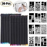 23fdabb329 Accessori per stencil per diario, Outgeek 36 Pennelli per Fineliner per PC e  stencil per