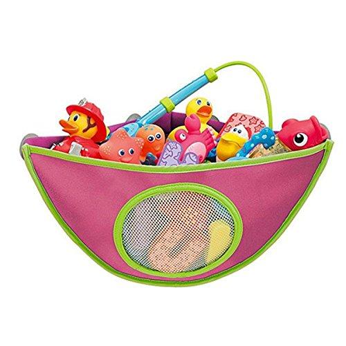 bluelover-baby-badewanne-spielzeug-lagerung-tasche-wasserdicht-saugnapf-dreieck-pouch-rot