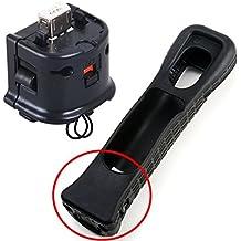 Nintendo - Motion Plus para mando inalámbrico de Wii, incluye carcasa protectora, color negro