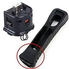 Remplacement Noir Nintendo Wii Motion Plus Adaptateur + Housse en Silicone pour Wii ou U Remote