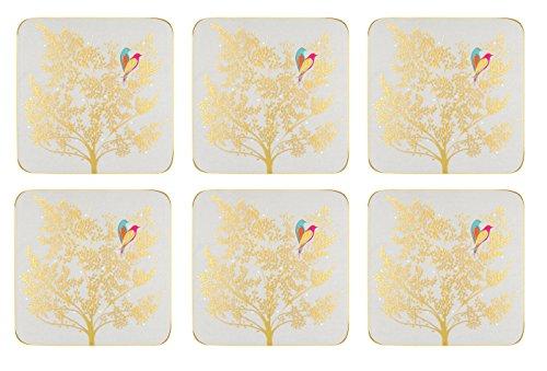 Sara Miller London Chelsea Collection Untersetzer 6 Stück - Light Grey (s) China Cream Jug