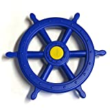 Steuerrad für Schiff Kunststoff Farbe blau von Gartenpirat®