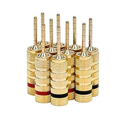 WOVELOT Lautsprecher Steck Verbinder - 5 Paare - Stift Schraube Typ Für Lautsprecher Kabel, Heim Kino, Wand Paneel Usw. -