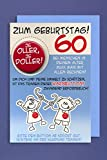 Grußkarte 60 Geburtstag Karte Humor Applikation ein Button JE OLLER.. C6
