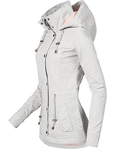 Fresh Made Damen Übergangsjacke Baumwolljacke 43304A Hellgrau Gr. XS - 3