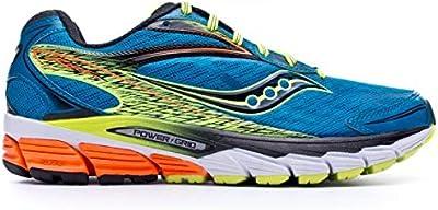 Saucony Ride 8 - Zapatillas de running unisex, color azul / amarillo / naranja
