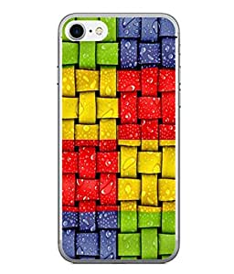 PrintVisa Designer Back Case Cover for Apple iPhone 6s Plus :: Apple iPhone 6s+ (Green Red Yellow Blue Box Checks Squares Design)