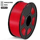 SUNLU Filamento PETG 1.75, Stampante 3D PETG Filamento 1kg Spool Tolleranza del diametro +/- 0,02 mm, PETG Rosso
