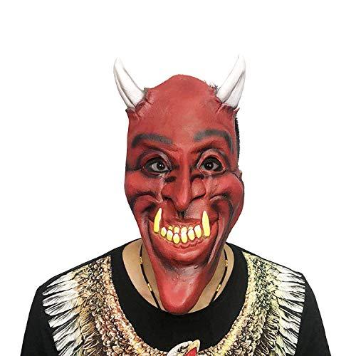 Teen Kostüm Teufel - WDERYL Halloween Grimasse Maske, Horror Grimasse Maske Teufel Masken Halloween Ball Party Kostüme Spielen Party Scary Props Devils Devil
