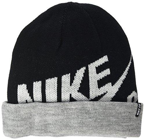 Nike SB Jungen Mütze Reversible Wrap Beanie Schwarz (Black), One size (Herstellergröße: One-Size) (Cap Reversible Nike)