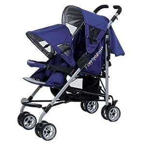 zwillingswagen geschwisterwagen foppapedretti bi e bo blau grau baby. Black Bedroom Furniture Sets. Home Design Ideas