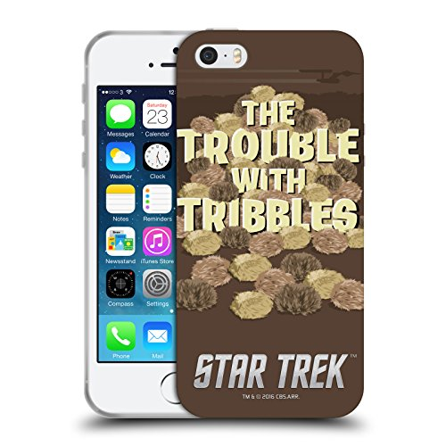 Star 5 Trek Bei Iphone (Offizielle Star Trek Tribbles Ikonische Figuren TOS Soft Gel Hülle für Apple iPhone 5 / 5s / SE)