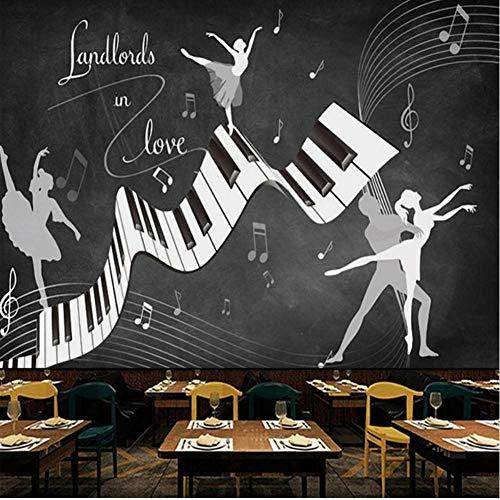 Für Meinen Und Mich Kostüm Hunde - LTTGG Benutzerdefinierte Foto Retro Ballett Kostüm 3D Wohnzimmer Sofa TV Hintergrund Wand wasserdicht Wandbild