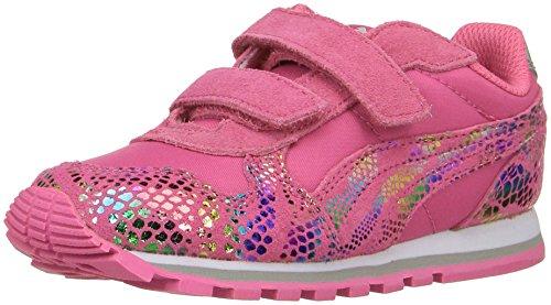 PUMA Girls' ST Runner Sportlux V Inf Sneaker, Fandango Pink/Puma Silver, 6 M US Toddler