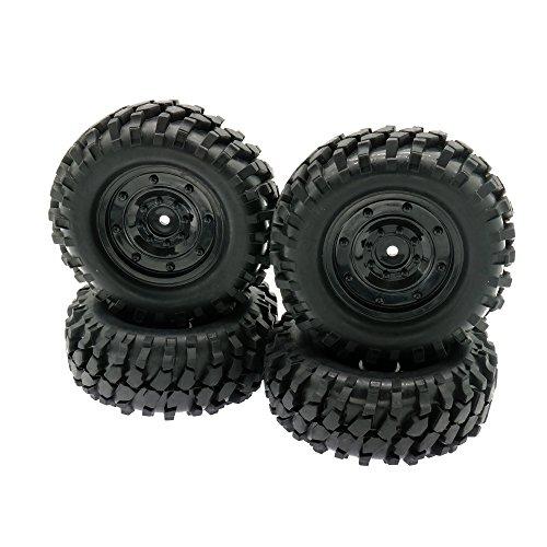 RCAWD 1:10 Offroad Rock Crawler 96mm Rc Auto Reifen Felge 12mm Hex Hub Kunststoff Gummi 210126 4 Stücke (12mm Rc Reifen Und Räder)