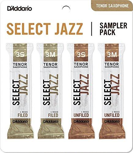D'Addario Select Jazz - Confezioni ance di prova per sax tenore, durezza 3S/3M