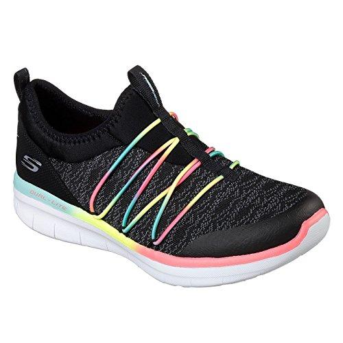 Skechers Damen Synergy 2.0 Simply Chic Sport Schuhe (38 EU) (Schwarz/Bunt)