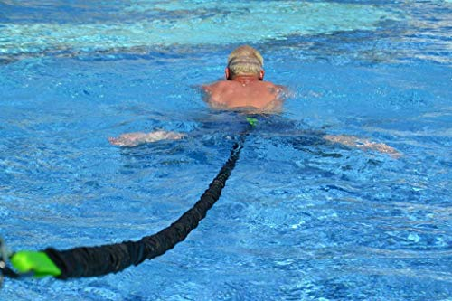 Schwimmtrainer | optimales Schwimmen ohne Gegenstromanlage | für jeden Pool geeignet | gepolsterter Schwimmgürtel | Aqua-Tube von 1 - 20kg Zugkraft | Sport und Spaß für die Familie | Made in Germany -