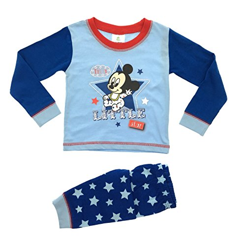 Pigiama disney per bambini e neonati, con mickey mouse i'm a little star 9-12 mesi
