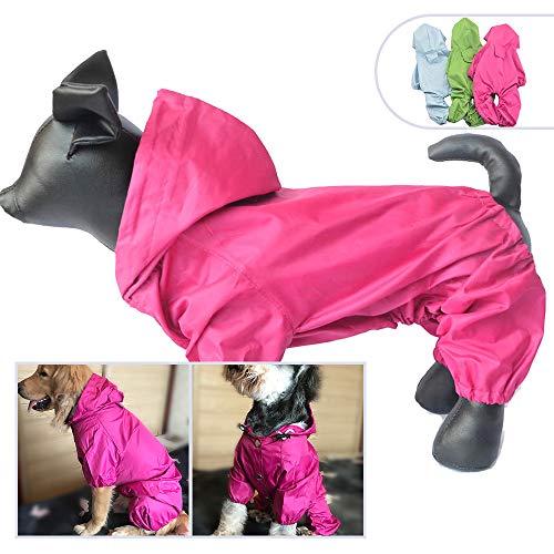 Haustier-Kostüme für Hunde, Regenjacke, wasserdicht, Nylon, 4 Beine, Haustier Regenmantel, Kapuzenpullover, ideal für kleine mittelgroße Hunde, Rassen, weiblich, männlich, für Outdoor-Außenbekleidung