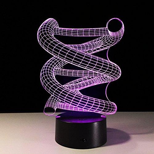 LT&NT Lampe 3D adn Illusion d'Optique LED Lights Table Lampe veilleuse 7 Couleurs changeantes USB Tactile noël Cadeaux d'Anniversaire pour Les Enfants -Toucher