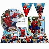 NADA HOME Kit Party Marvel Spiderman 24 Persone Bicchieri Piatti tovaglia tovaglioli 1394