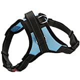 Decdeal Adjustable Front Range Pet Harness Belt with Handle for Dogs Ventilated Outdoor Leash Vest Walk Out Hand Strap Collar