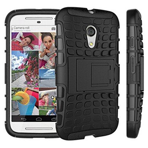 Moto G2 Case : Premium Protection Case with kickstand for Moto G 2nd Gen (2014) / Motorola XT1068 - Black : by Cool Mango(TM)