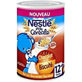Nestlé p'tite céréale biscuitée pépites de chocolat 400g dès 12 mois - ( Prix Unitaire ) - Envoi Rapide Et Soignée