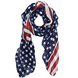 Arpoador Melody Unisex Fashion Charming patriota nosotros diseño de la bandera de Estados Unidos Patrón Impresión Chal Bufanda Envolver SCF003jardín, césped, suministro, Mantenimiento