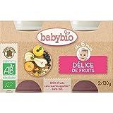 Babybio delice de fruits sans gluten 2x130g - ( Prix Unitaire ) - Envoi Rapide Et Soignée