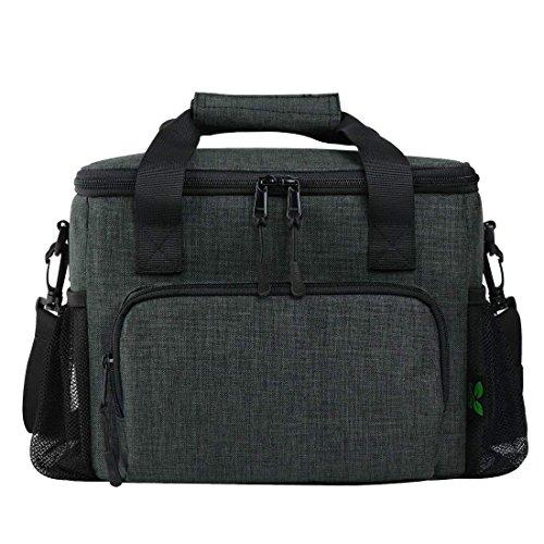 F40C4TMP Isoliertasche Lunch Tasche, 13L Große Kühltasche Lunchtasche Mittagessen Tasche Picknicktasche für Männer, Frauen, Erwachsene (Grau)