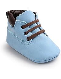 Zapatos de bebé Auxma Bebé niña niño zapatos,cuero suela suave infantil niño zapatos con cordones