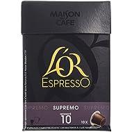 L'OR ESPRESSO Supremo 10 capsules compatibles avec les machines à café Nespresso - Lot de 4 (40 capsules)