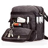 Outreo Canvas Umhängetasche Herren Schultertasche Kleine Herrentaschen Vintage Messenger Bag Taschen für Schule Kuriertasche Tablet Segeltuchtaschen Reisetasche Sport Werkzeug Taschen sporttasche